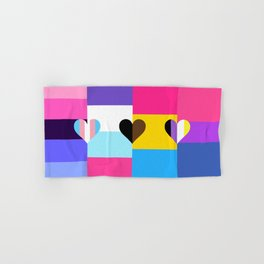 Omniseual/Multisexual/Pansexual/Bisexual Quilt Love Flag Hand & Bath Towel