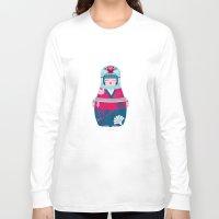 geisha Long Sleeve T-shirts featuring Geisha by Piktorama
