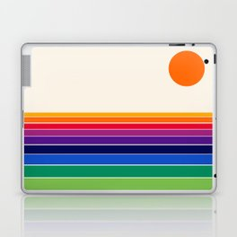 Coolie - retro 70s style throwback sunset sunrise socal cali beach vibes Laptop & iPad Skin