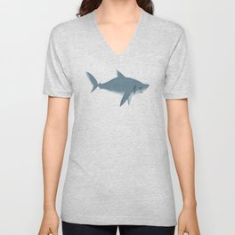 "FINconceivable Still ""Great White Shark"" Unisex V-Neck"