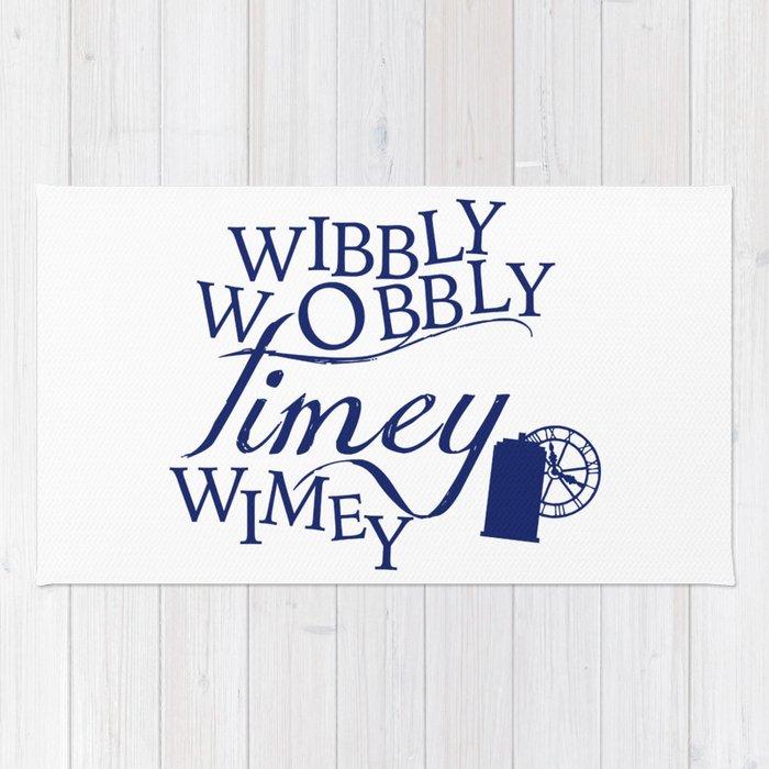 Wibbly Wobbly Timey Wimey Rug