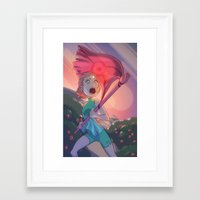 battlefield Framed Art Prints featuring Strawberry Battlefield by temporaryglitch