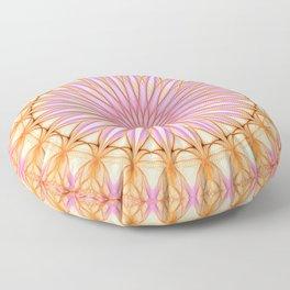 Mandala in pink, yellow and orange tones Floor Pillow