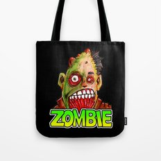 ZOMBIE title with zombie head Tote Bag