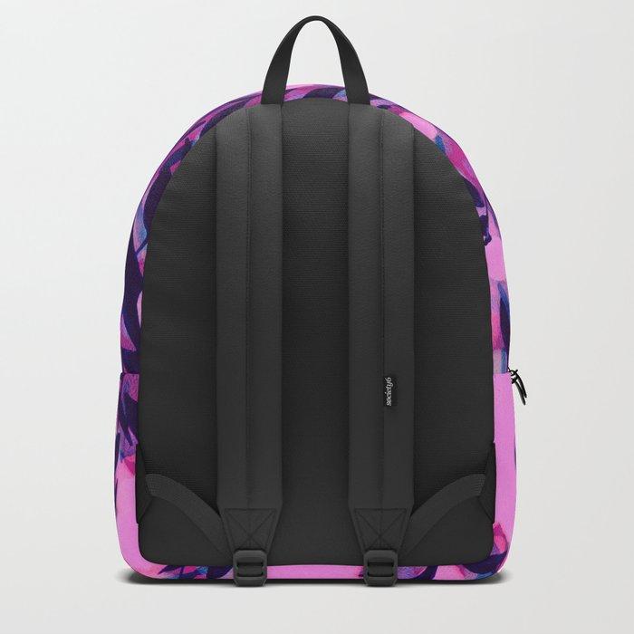 Layered Leaf Floral Pink Backpack