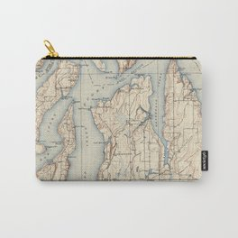 Vintage Map of The Puget Sound (1934) Carry-All Pouch