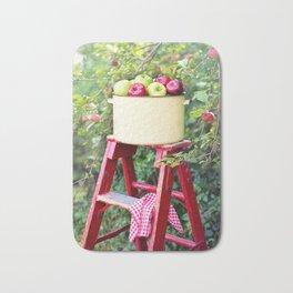 Apple Picking Ladder and Basket Bath Mat