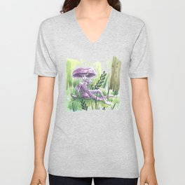Empire of Mushrooms: Laccaria Amethystina Unisex V-Neck