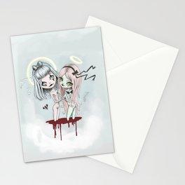 creepy twins Stationery Cards