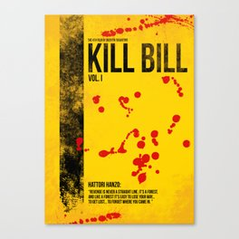 Kill Bill - Vol. I minimal movie poster Canvas Print