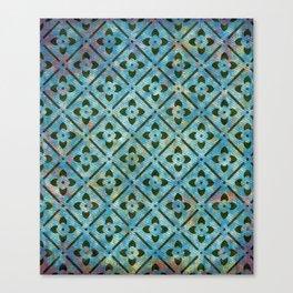 blue green pattern texturized Canvas Print