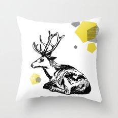 simply deer Throw Pillow