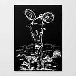 Bike Contemplation Canvas Print