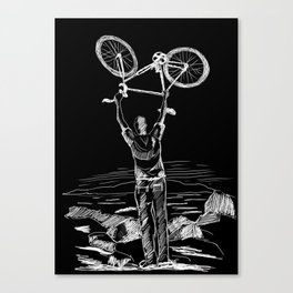 Bike Contemplation Canvas Print