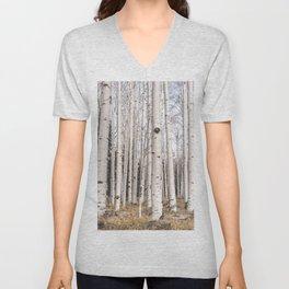 Trees of Reason - Birch Forest Unisex V-Neck