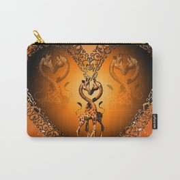 Cute giraffe couple Carry-All Pouch