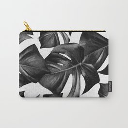 Monstera Leaves Pattern #9 #tropical #decor #art #society6 Carry-All Pouch