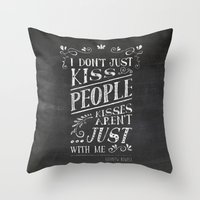 fangirl Throw Pillows featuring fangirl by solMKC