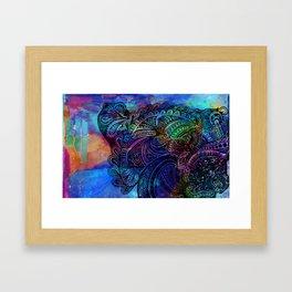 Henna Print II Framed Art Print