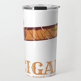 Smoker Smoke Smoking Cigar Anatomy Gift Travel Mug