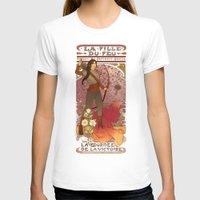 la T-shirts featuring La fille du feu by Megan Lara