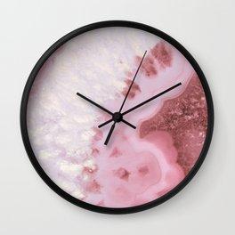 Millennial Pink Agate Wall Clock