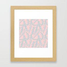 Pastel Color Lavender Leaves Botanical Rose Blush Pattern Framed Art Print