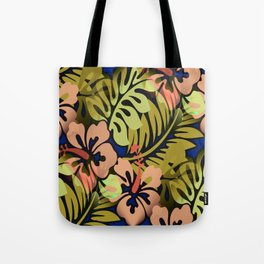 Hawaiian Flowered Vintage Look Tote Bag