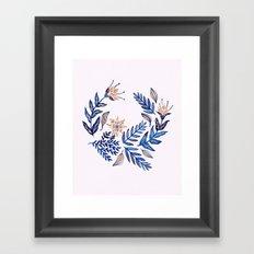 Blue Wreath Framed Art Print