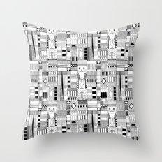 MOG black white Throw Pillow