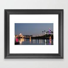 ~ Rainbow Harbor ~ Framed Art Print