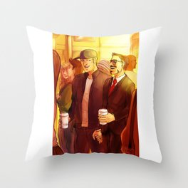 Superhusbands Coffee Break Throw Pillow