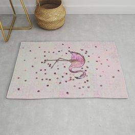 Glamorous Flamingo pink and rose gold sparkle Rug