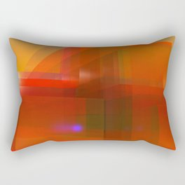 red glass and a lilac reflection Rectangular Pillow