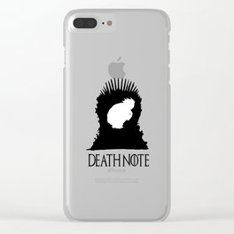 L from Death Note Clear iPhone Case