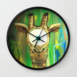 Spirit Animal Sight: Giraffe Wall Clock