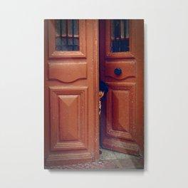 Girl in a Doorway Metal Print