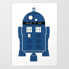 R2-TARDIS Art Print