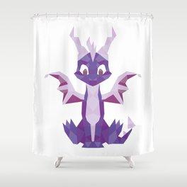 Spyro the dragon Lowpoly Shower Curtain