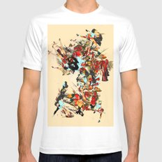 non-headed trogon SMALL White Mens Fitted Tee
