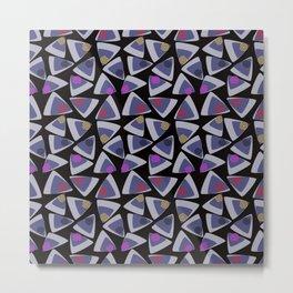 Triangles Play Black Metal Print