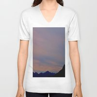 spanish V-neck T-shirts featuring spanish skies by ginaspinelli