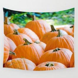 Pumpkin Patch Field Wall Tapestry