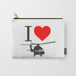I Love Helicopters Carry-All Pouch