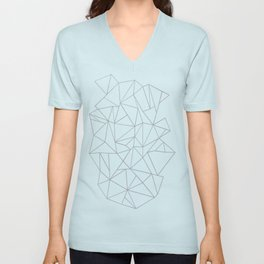 Abstraction Outline Grey Unisex V-Neck