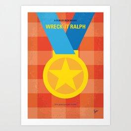 No1026 My Wreck it Ralph minimal movie poster Art Print