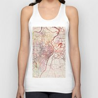 louis Tank Tops featuring Saint Louis by MapMapMaps.Watercolors