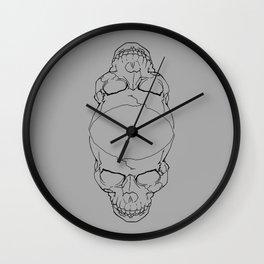 Conjoined Skull Wall Clock