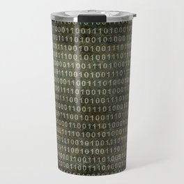 Binary Code with grungy textures Travel Mug