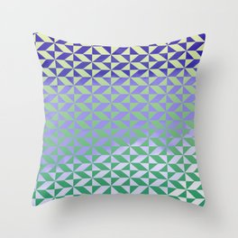 Magic Vibrations (Green) Throw Pillow
